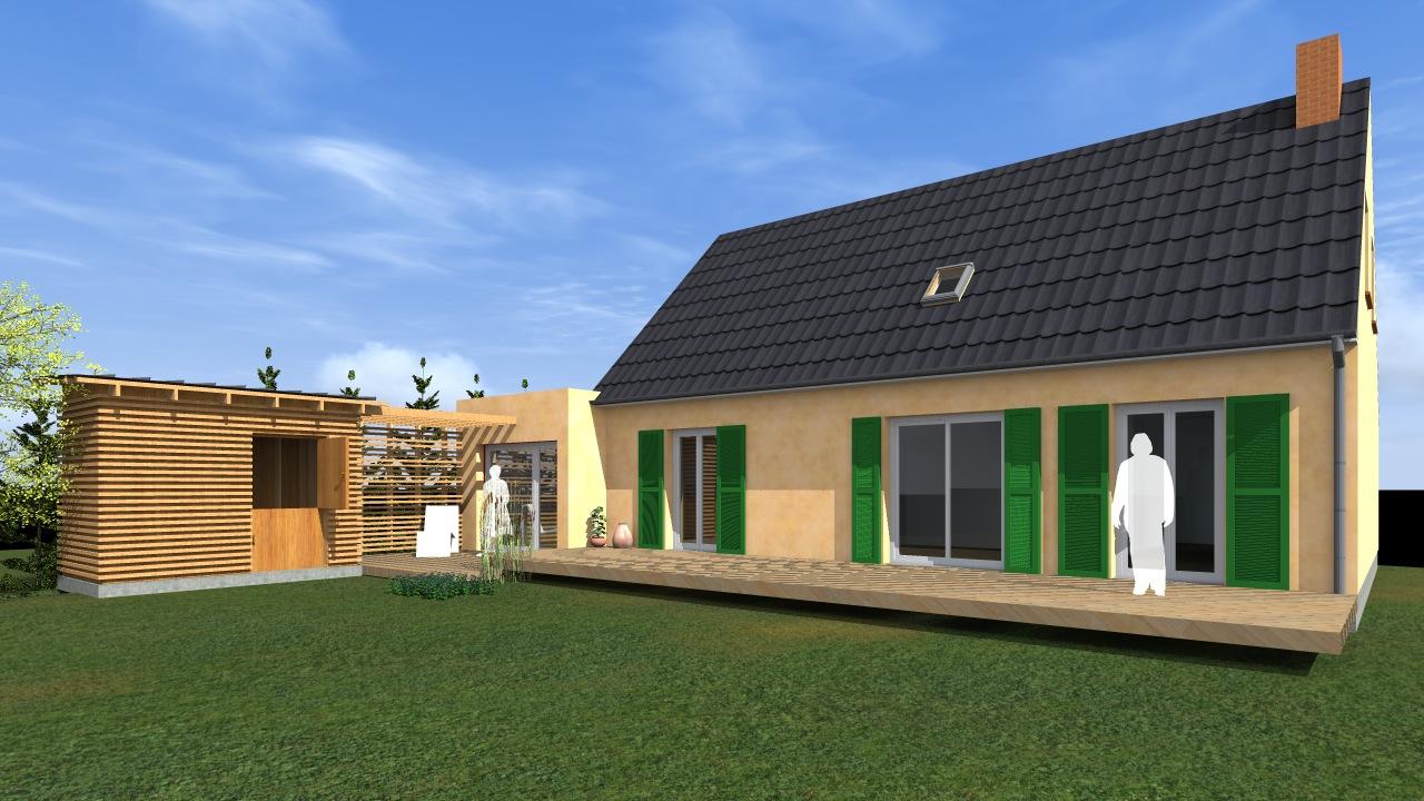 Extension d une maison d habitation mesnil esnard 76 for Extension habitation